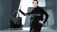 New style retro women summer tassel handbags brown black cell phone pocket free shipping