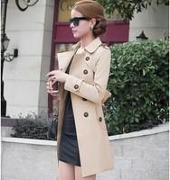 2014  European and American fashion new winter coat women's Slim large size windbreaker coat
