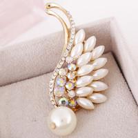 Free Shipping Women Christmas Gift Fashion Alloy Brooch Silver Crystal Jewelry Rhinestone Brooch Women Brooch For WeddingYB-018