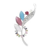 Free Shipping Women Christmas Gift Fashion Alloy Brooch Silver Crystal Jewelry Rhinestone Brooch Women Brooch For WeddingYB-021