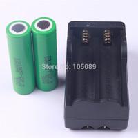 2PCS Original  Samsung 18650 ICR18650-22F 2200mah Rechargeable Li-ion  Battery +1PCS Charger