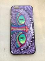 Free shipping 10pcs/lot  Alice In Wonderland Cat Case hard plastic case for iphone 6&6 plus