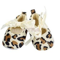 New 2014 Popular Kawaii Baby Girl Toddler Newborn Baby First Walkers Cute Mini Leopard Baby Walking Shoes