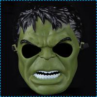 Wholesale 5pcs/lot Hot Movie The Incredible Hulk Green Plastic Masks Halloween Dance Party Masks