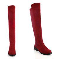 2014 New Fashion Autumn Women Fashion Round Toe Flat Bottom Genuine Leather Knee High Boots,sapatos femininos Slim Fit Shoes 803