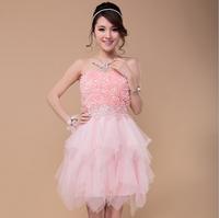 Brand desigual 2014 fashion popular tube top sweetheart beading empire bridesmaid dresses,vestido de festa,New Specials Price !