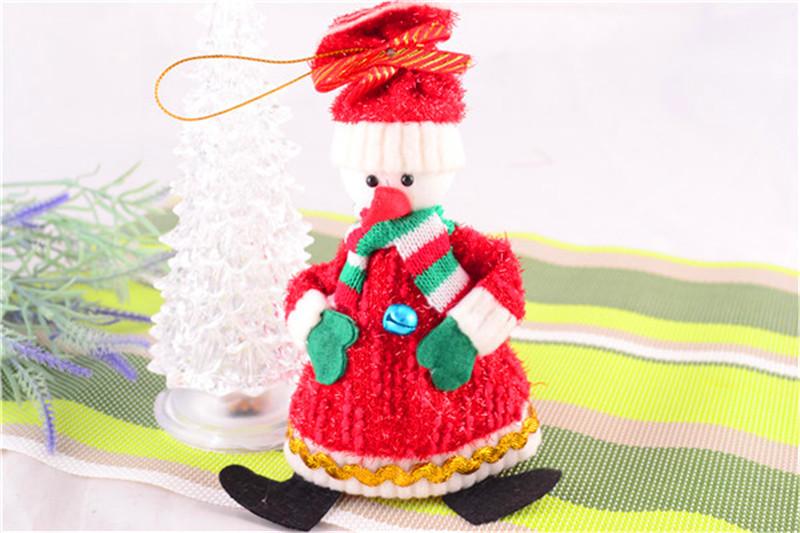 2015 Hot Sale Christmas Party Decoration Mini Santa Claus For Christmas Tree Decorations XMAS Gift Hanging Ornaments(China (Mainland))