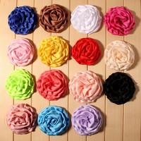 handmade flower clothing material accessory children hair bows20149181