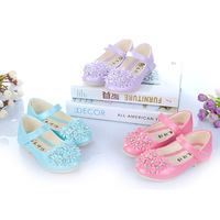 Free shipping 2014  new flower girls  shoes wholesale floral  in big children A-9