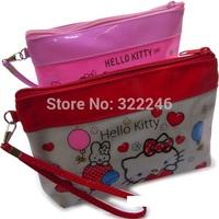 10pc/lot Factory Sale Fashion Hello kitty coin bag make up bag  beauty bag  Coin Purses  19.5*12.5*4.5cm  KB918-6