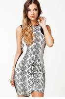 Snake Print Bodycon Mini Dress  LC21612
