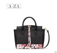 Aza New 2014 fashion black PU bag portable shoulder bag cross-body bolsas women  bag