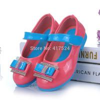 Free shipping 2014  generous hot children shoes girls princess white   518