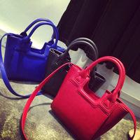 Free shipping 2014 new brand designer woman handbag Messenger bag shoulder bag small bag simple fashion tote smiley bag