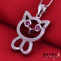 LSP890 Zircon jewelry cartoon 925 silver pendants women, free shipping
