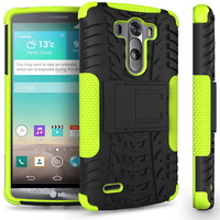 High Quality Heavy Duty Armor Stand Holder TPU&PC Phone Cases For LG G3