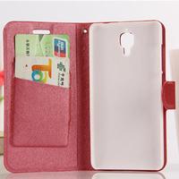 Luxury Silk Grain Flip Leather Case Cover For Xiaomi MI4 M4,Phone Cases  Free Screen Protector
