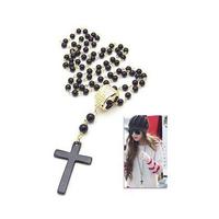 Fashion Korea  Vintage Cross Pendant  black beads cross necklace jewelry wholesale women fashion 2014 accessories PT31