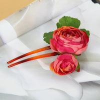 6pc Handmade Artificial Plants Flower Hairpins Cute Small Camellia Hair Pins Clips For Hair Accessories New 2014 WIGO0340