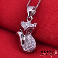 LSP874 Zircon jewelry cartoon 925 silver pendants wedding, free shipping