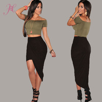2014 New Summer Autumn Skirts Women Pink/Blue/Black Ruched Asymmetrical Draped Sexy Skirt Long