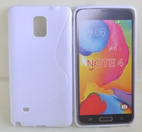 S Line Soft TPU Gel Skin Cover Case for Samsung Galaxy Note 4