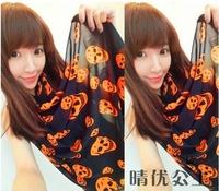 2014 hot selling new chiffon scarf female sexy skull pring long scarf shawl 3 colors
