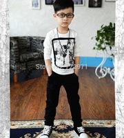 2014 boy autumn winter AB slacks pants children black and gray trouser boys leggings sports pants boy's clothing