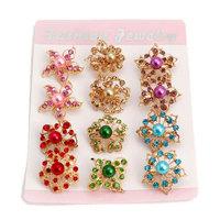 Free Shipping Women Christmas Gift Fashion Alloy Brooch Silver Crystal Jewelry Rhinestone Brooch Women Brooch For WeddingYB-023