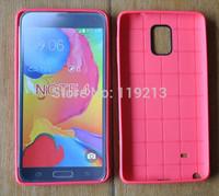 Premium Soft TPU Gel Skin Cover Case for Samsung Galaxy Note 4 Honeycomb Pattern TPU Skin Case Cover Note 4