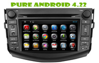 Android 4.22 car dvd gps for TOYOTA  RAV4  2006-2012 +1.6g RAM+ 8gB FLASH+3G+DVR + WIFI DONGLE+steering wheel control+