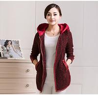 New Arrival 2014 Brand Design  Winter Trench Coat Women Medium Long Plus Size Warm Jacket European Fashion Overcoat LGX1038