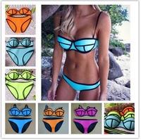 10 color for choice neoprene push up bikinis set vitoria swimwear women secret swimsuit  triangle top - VS 58