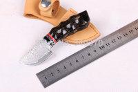 2014 New Mini Damascus Collect Hunting Knife,Damascus Blade,cornu procaprae gutturosae Handle,Outdoor Survival Knife,Multitool