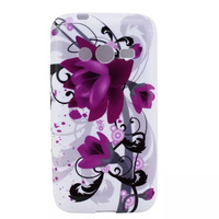 100pcs/lot Butterfly Flower OWL Cartoon Printed Designs TPU Soft Back Case Cover for Samsung Ace 4 G313H Wholesale