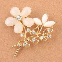 Free Shipping Women Christmas Gift Fashion Alloy Brooch Silver Crystal Jewelry Rhinestone Brooch Women Brooch For WeddingYB-024