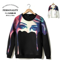 NEW SEASON Fashion Mens neoprene 3D beautiful girl printed structured cycle sweatshirt crew neck oversized cotton jersey N60001