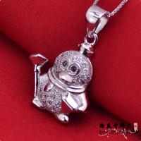 LSP883 925 silver pendants rhodium plating cartoon pendants, free shipping
