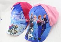 Free shipping15pcs/LOT frozen hat/cap,elsa,anna baseball cap,peaked cap,best gift to kids.