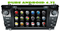 Android 4.22 car dvd gps for TOYOTA COROLLA  2014 +1.6g RAM+ 8gB FLASH+3G+DVR + WIFI DONGLE+steering wheel control+