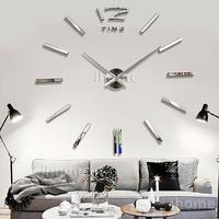 Home DIY decoration large quartz Acrylic mirror wall clock, Safe 3D Modern design & Fashion Art decorative wall stickers Watch