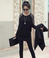 Superb! 1PC Women Ladies Leopard Print Long Sleeve Loose T shirt Tops Blouse Free Shipping&Wholesale Alipower
