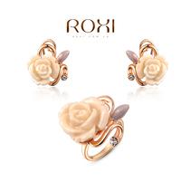 ROXI rainbow rose fashion women jewelry sets,Austrian crystal,Nickeless jewelry,free shipping,wholesale,best Christmas gifts