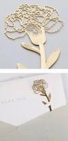Creative metal bookmarks carving golden color carnation Exquisite vintage stationery gift  CN post