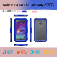 New arrival PC + Silicone Waterproof for Samsung Galaxy Note4 Waterproof Case Bag Underwater Back Cover