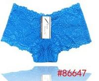 Wholesale 10PCS/LOT high quality women sexy lace panties women floral underwear lace boyshort knicker undies L,XL,XXL plus size