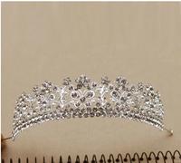 Continental Fan children  pearl jewelry large crown bridal headdress