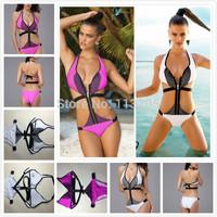 New Design Brand Swimwear Spring 2014 Zipper Swimsuit For Women,high Quality One Pieces Swimwear Size SML Drop Shipping
