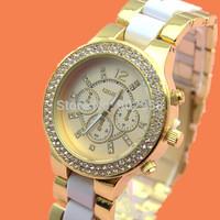 Wholesale-200pcs/lot 2014 New Arrival Fashion dial Women quartz watch Casual Watch Women Dress Wristwatches