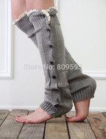 4 pairs/lot  Free shipping , Girls Womens Lace button down Leg Warmers